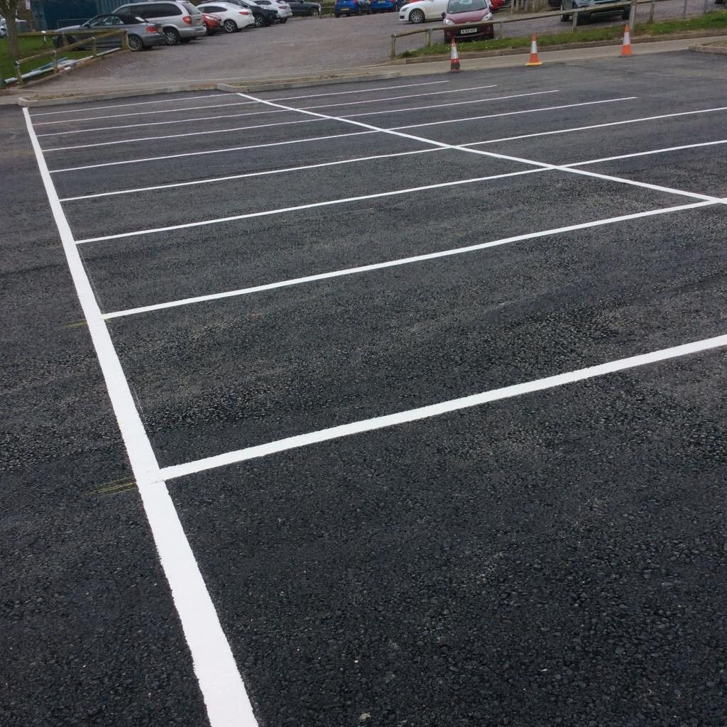 Hospital Car Park Line Marking In Barnstaple Photo