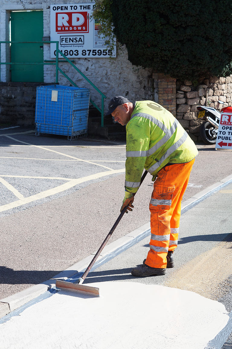 HFS recent work photo from Line Marking Services - 01626 331771