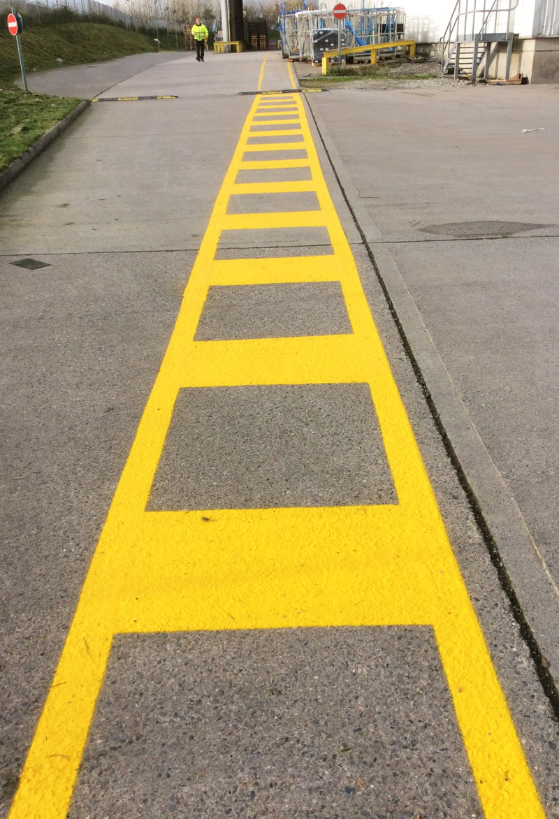 Factory line marking recent work photo from Line Marking Services - 01626 331771